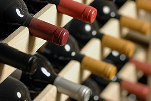 A Wine rack full of bottles