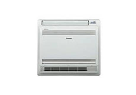 A photo of a Panasonic floor console heat pump that Varcoe can provide a price for